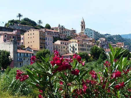Ventimiglia, Historic Center, Roofs, Houses, City