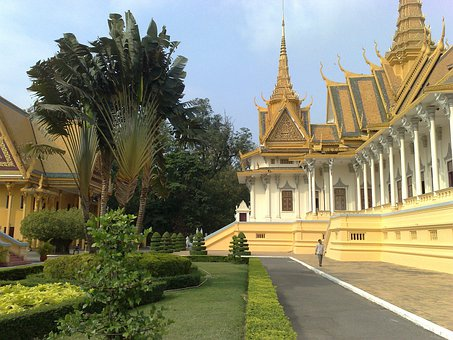 Phnom Penh, Cambodia, Royal, Palace, Building, Landmark