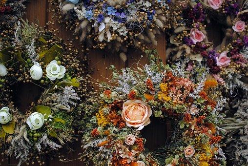 Floral, Wreath, Decoration, Laurel, Floral Wreath
