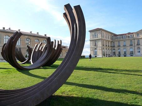 Marseille, The Pharo Park, Sculptures Bernard Venet