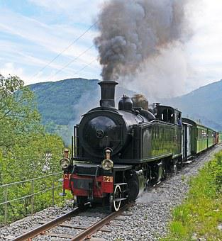 Museum Train, Steam Locomotive, Special Crossing