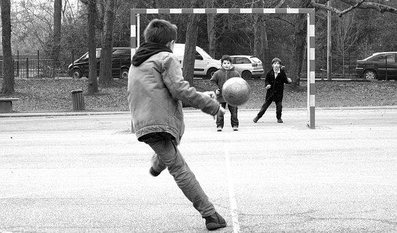 Football, Play, Children, Proce Park, Nantes