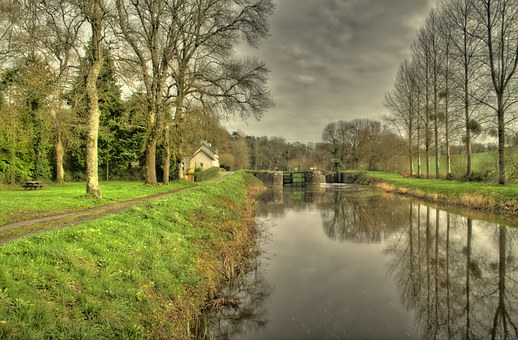 Nantes To Brest Canal, Brittany, France, Brest, Outdoor