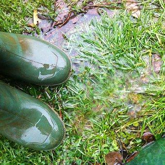Rubber Boots, Rain, Autumn, Boots, Wet, Out, Nature