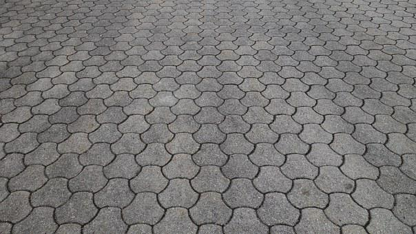 Patch, Brick, Hexagonal, Paving, Concrete