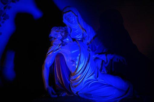 Jesus, Maria, Pietà, Sculpture, Christianity