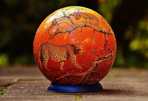 Puzzle Ball, Leopard, Wild Animals, Puzzle, Play
