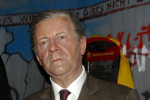 Helmut Schidt, Wax Figure, Policy