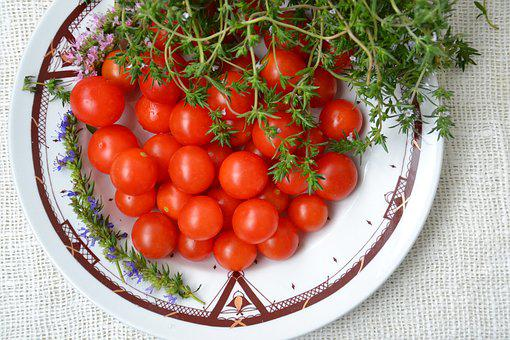 Tomatoes, Small, Vegetables, Salad, Harvesting, Food