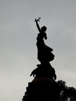 Victory, Triumph, Laurel Wreath, Silhouette, Defeat