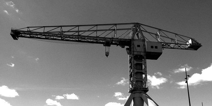 Nantes, Crane, Sky