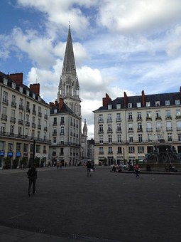 Nantes, Town Hall, Square