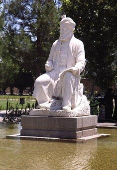 Iran, Tus, Mashhad, Firdousi, Persian Poet, Statue