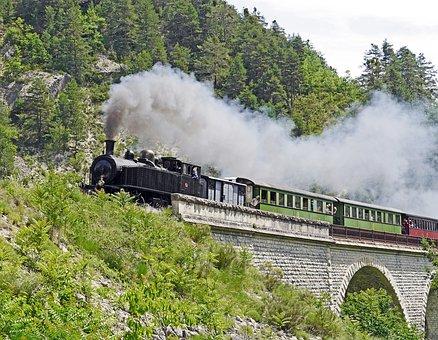 Steam Locomotive, Nostalgia Ride, Tourism, Viaduct