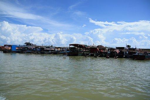 Cambodia, Phnom Penh, Lake, Cloud, Sky, Travel, Explore