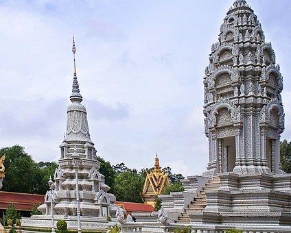 Udong, Cambodia, Asia, Phnom, Penh, Ancient