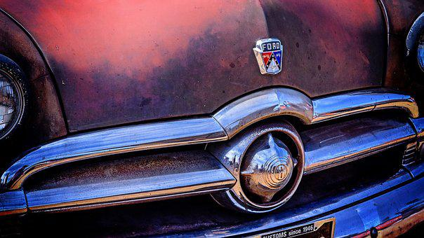 Ford, Grille, Car, Oldtimer, Vehicle, Auto, Automotive