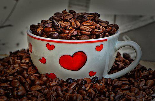 Coffee Beans, Cup, Coffee, Coffee Cup, Caffeine