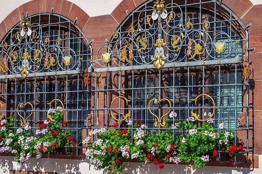 Flower, Geranium, Colorful, Window Grilles, Decorated
