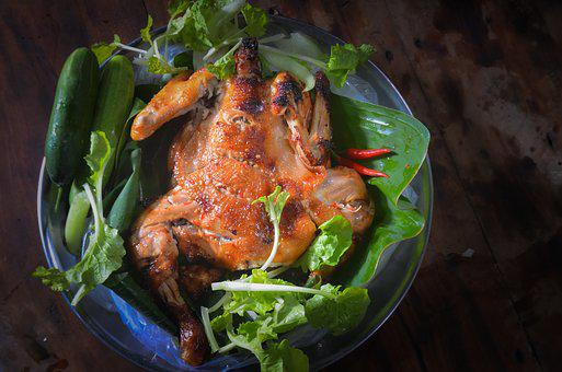 Roasted Chicken, Food, Delicious, Chicken