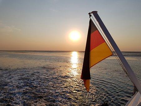 Sunset, Sun, Dusk, Romantic, Evening Sky, Water