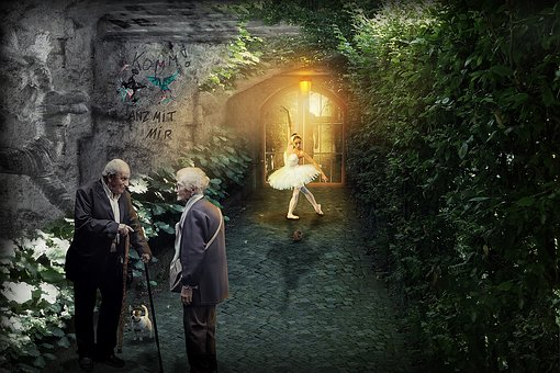 Composing, Fantasy, Photomontage, Mood, Lighting, Vault