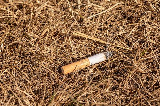 Fire Hazard, Burning Cigarette Butt