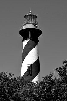 St, Augustine, Florida, Lighthouse, Beacon, Nautical