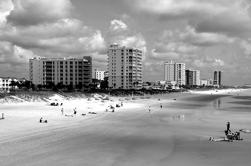 Jacksonville Beach, Florida, Ocean, Atlantic, Sun