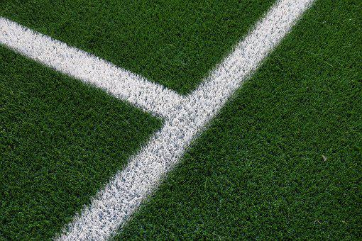 Football Field, Artificial Turf, Mark, White, Football
