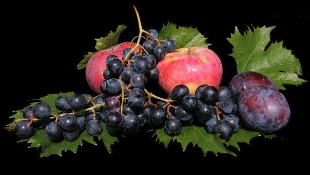 Fruit, Apple, Grapes, Fresh, Food, Healthy, Vitamins