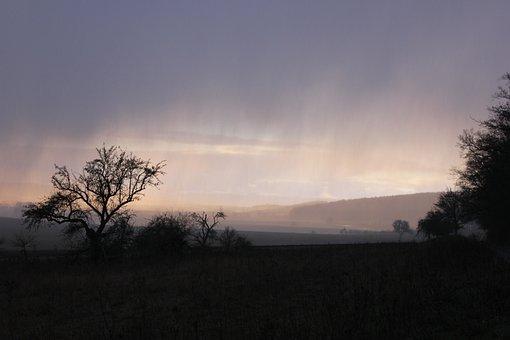 Gloomy, Color Game, Contrasts, Fog, Rain, Sunset, Hail