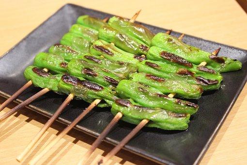 Japanese Food, Grilled Vegetables, Japan, Food, Nature
