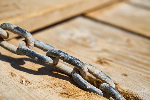 Chain, Rusty, Daniel, Wood, Ground, Marine, Iskele