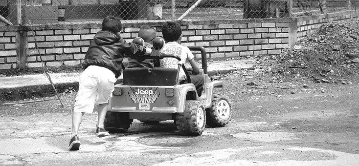 Black And White, Children, Games, Fun, Guatica