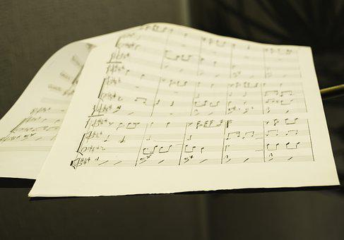 Music Sheet, Over The Piano, Grand Piano, Handwritten