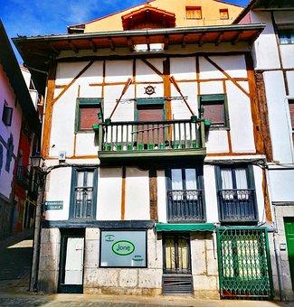 House, Facade, Architecture, Fishermen, Lequeitio