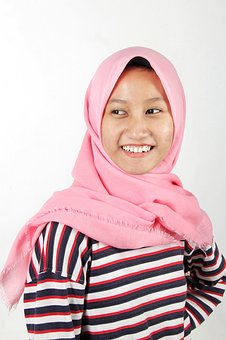 Gorgeous, Women, Pink, Smile, Hijab, Indonesian