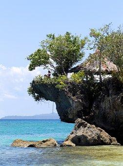 Cliff, Rock, Sea, Ocean, Philippines, Bohol, Anda