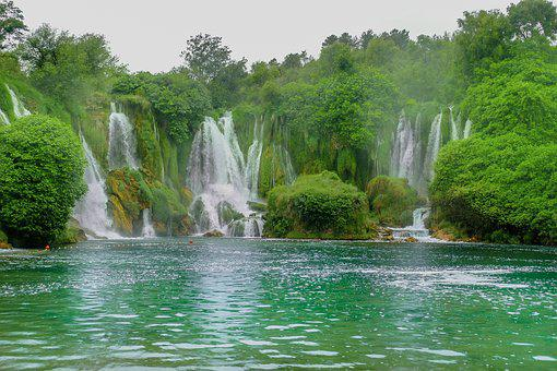 Waterfalls, Nature, Water, Landscape, River, Outdoors