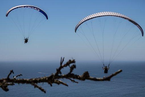 Paragliding, Water, Sport, Sky, Paraglider, Blue, Human