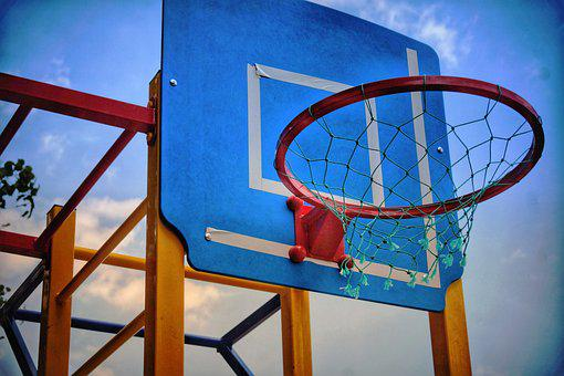 Basketball, Ring, Sport, Sports, Ball, Sky, Plant, City