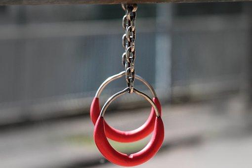 Rings, Gymnastics, Gymnastic Rings, Playground