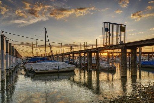 Lake Constance, Investors, Web, Water, Jetty, Romantic