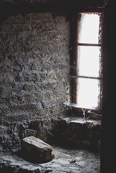 Window, Niche, Cobwebs, Old, Masonry, Rustic, Romantic