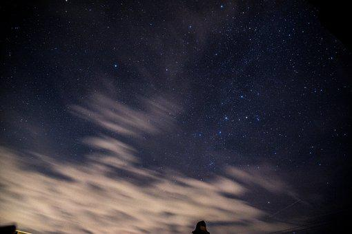 Star, Clouds, Night, Sky, Atmosphere, Fantasy, Dream