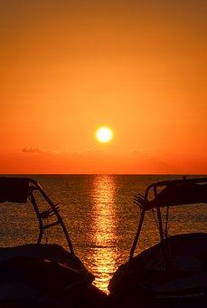 Sunrise, Sunset, Landscape, Nature, Sky, Water