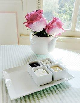 Tea, Roses, Scones, English, Pink, Spring, White China