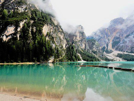 Dolomites, His Breeches, The, Lake, Landscapes