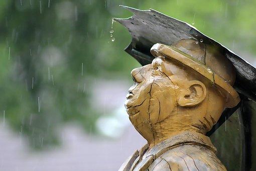 Rain, Umbrella, Rainstorm, Water, Drop Of Water, Figure